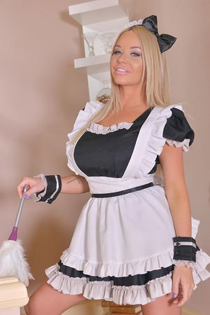 A Chesty Maid's Dream: Throating His Pipe For Spunk On Her Melons