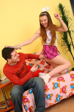 Lovely teenage Nancy gets her very first time ass-fuck